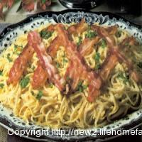 Bacon and Egg Spaghetti or Linguine Carbonara